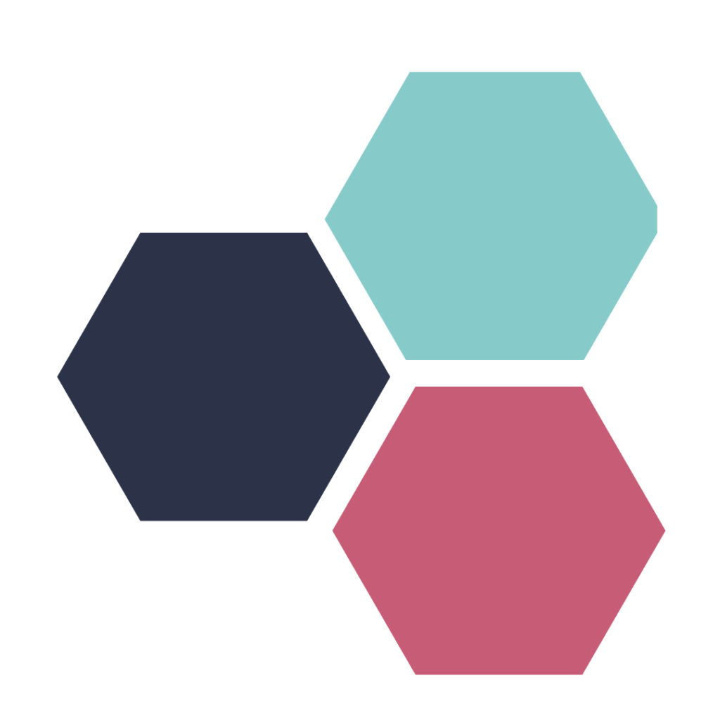 Contact NewSky Consulting - Three hexagons that represent three main services that NewSky Consulting offers
